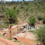 The Water Project: Kyetonye Community -  Sand Dam In Progress