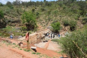 The Water Project:  Sand Dam In Progress