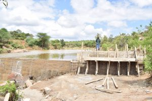 The Water Project:  Rains Delayed The Dam Construction Process