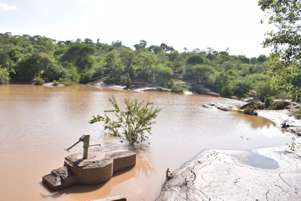 The Water Project : kenya18186-well-and-dam