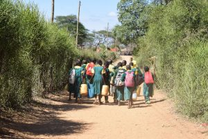 The Water Project:  Students Carrying Water On Their Way To School