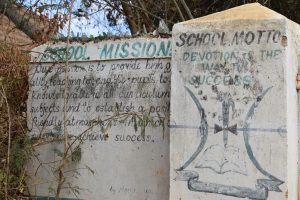The Water Project:  School Mission And Motto On Entrance Wall