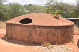 The Water Project:  Broken And Decomissioned Rainwater Tank
