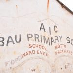 The Water Project: AIC Mbao Primary School -  School Sign And Motto