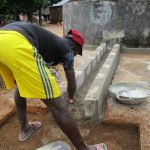 The Water Project: Lungi Town, 112 Alimamy Seray Modu Road -  Cementing The Water Collection Area