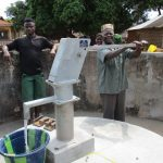 The Water Project: Lungi Town, 112 Alimamy Seray Modu Road -  Pump Installation Complete