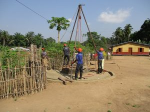 The Water Project:  Drill Rig Set Up