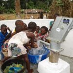 The Water Project: Mapitheri, Port Loko Road -  Splashing Water