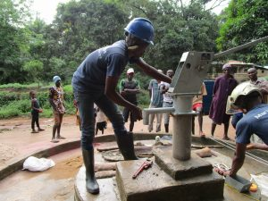 The Water Project:  Pump Nearly Installed