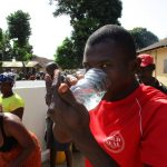 The Water Project: Lungi Town, 112 Alimamy Seray Modu Road -  Drinking Water From The Well