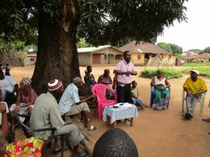 The Water Project:  Facilitator Leads Discussion With Community Members