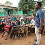 The Water Project: Kamasando DEC Primary School -  Facilitator Speaks To The Students