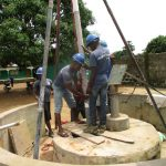 The Water Project: Kamasando DEC Primary School -  Installing Permanent Casing