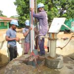 The Water Project: Kamasando DEC Primary School -  Preparing Temporary Casing