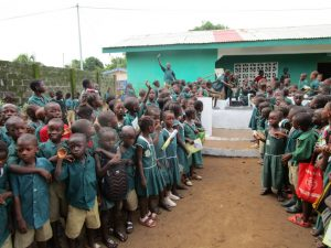 The Water Project:  Students Gathered At Dedication Ceremony