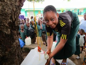 The Water Project:  Tippy Tap In Use For Handwashing
