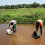 The Water Project: Lungi, Suctarr, 10 Khalil Lane -  Fetching Water At Open Source