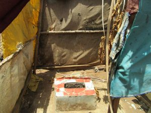 The Water Project:  Latrine With Makeshift Sides