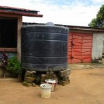 The Water Project: Kasongha, 8 BB Kamara Street -  Rain Water Storage Unit At A Household