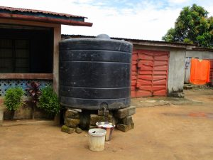 The Water Project:  Rain Water Storage Unit At A Household