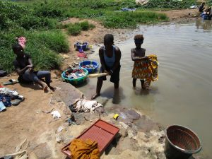 The Water Project:  Washing Clothes At The Local River