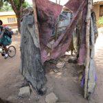 The Water Project: Lungi, Suctarr, 10 Khalil Lane -  Improvised Bathing Shelter