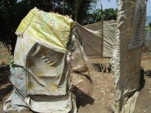 The Water Project:  Improvized Bathing Shelter