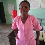 The Water Project: Targrin Health Post -  Nurse Isha Bangura