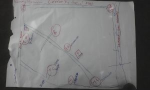 The Water Project:  Sketch Map Of The Community Social Map Of Karagralya