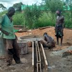 The Water Project: Hamis Water Source Pakanyi Community -  Constructing Drainage Area