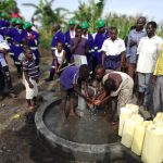 The Water Project: Alimugonza Community A -  Children At The New Well