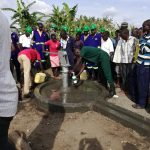 The Water Project: Alimugonza Community A -  Fetching Water From The Well