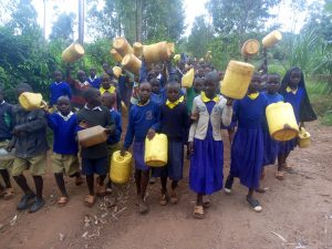 The Water Project:  Students Walking To Spring