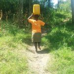 The Water Project: Emukangu Community, Okhaso Spring -  Carrying Water Home