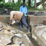 The Water Project: Lunyi Community, Fedha Mukhwana Spring -  Spring Construction