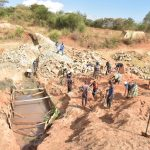 The Water Project: Ngitini Community B -  Sand Dam Construction