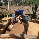 The Water Project: Shitirira Community, Peninah Spring -  Sanitation Platform Construction