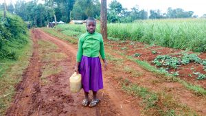 The Water Project:  Girl With Her Jerrycan