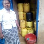 The Water Project: Hombala Secondary School -  Madam Shuah At Water Storage Latrine