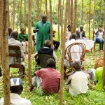 The Water Project: Mutao Community, Kenya Spring -  Meeting With Community About Project