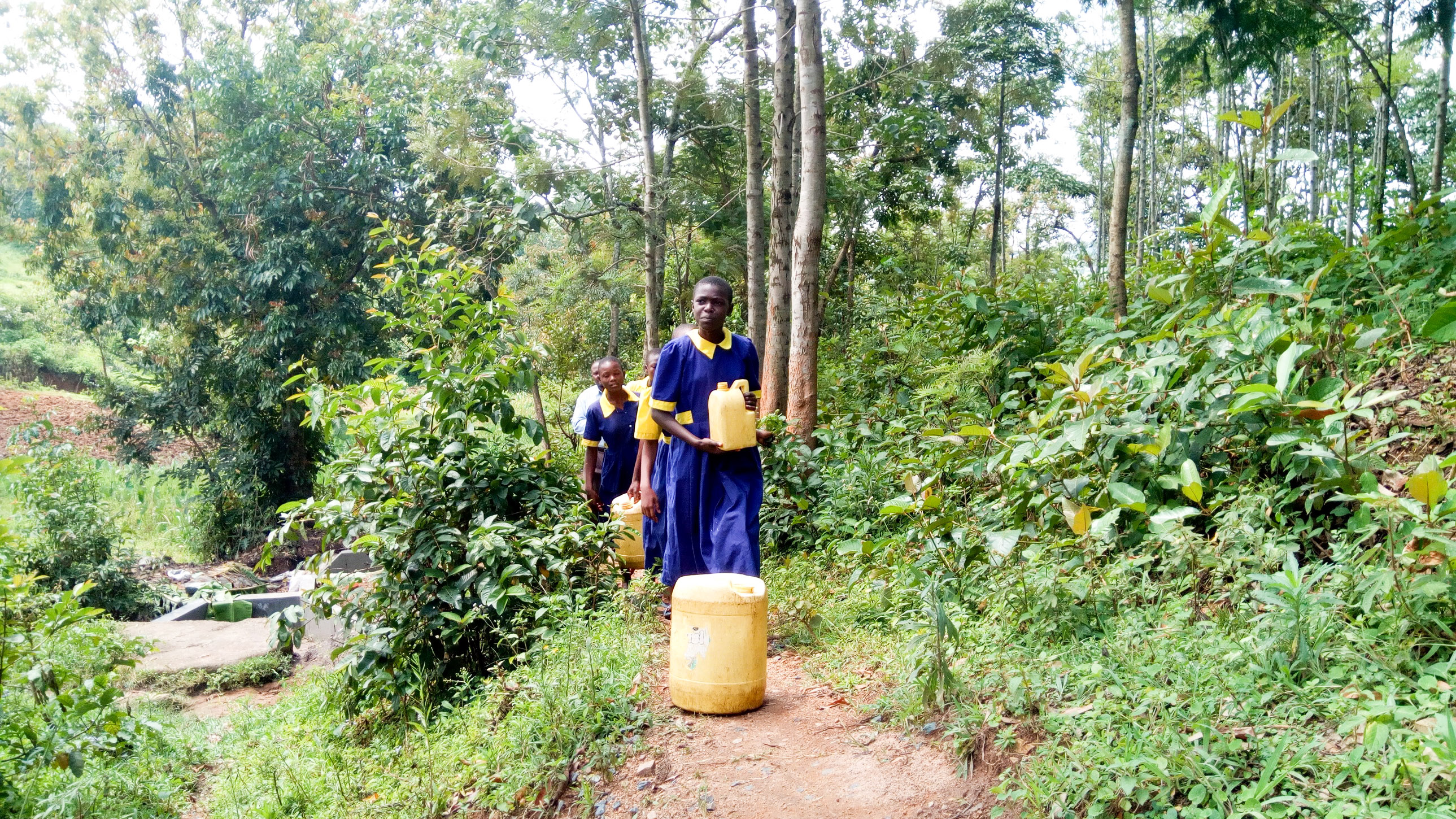 The Water Project : 14-kenya19039-carrying-water-back-to-school