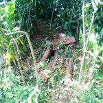 The Water Project: Mutao Community, Shimenga Spring -  Latrine Sample