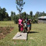 The Water Project: Lunyi Community, Fedha Mukhwana Spring -  Finished Latrine Floor