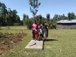 The Water Project:  Finished Latrine Floor