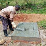 The Water Project: Shirugu Community, Mashela Spring -  Sanitation Platform Construction