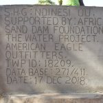 The Water Project: Katuluni Community C -  Plaque