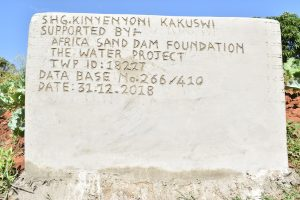 The Water Project:  Well Plaque