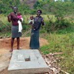 The Water Project: Shirugu Community, Jeremiah Mashele Spring -  Sanitation Platform