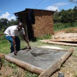 The Water Project: Shitirira Community, Peninah Spring -  Finished Sanitation Platform