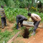 The Water Project: Koitabut Community, Henry Kichwen Spring -  New Pit Dug For A Sanitation Platform